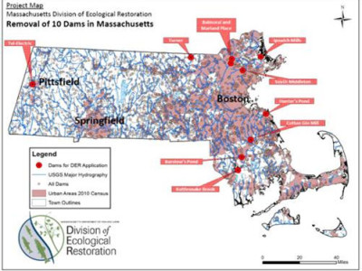 Removal Of 10 Dams In Massachusetts