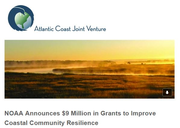 NOAA Coastal Resiliency Grants [Close July 24]