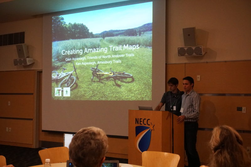 Glen And Ken Aspeslagh Give A Presentation On Developing Trail Maps At The 2016 Essex County Open Space Conference.