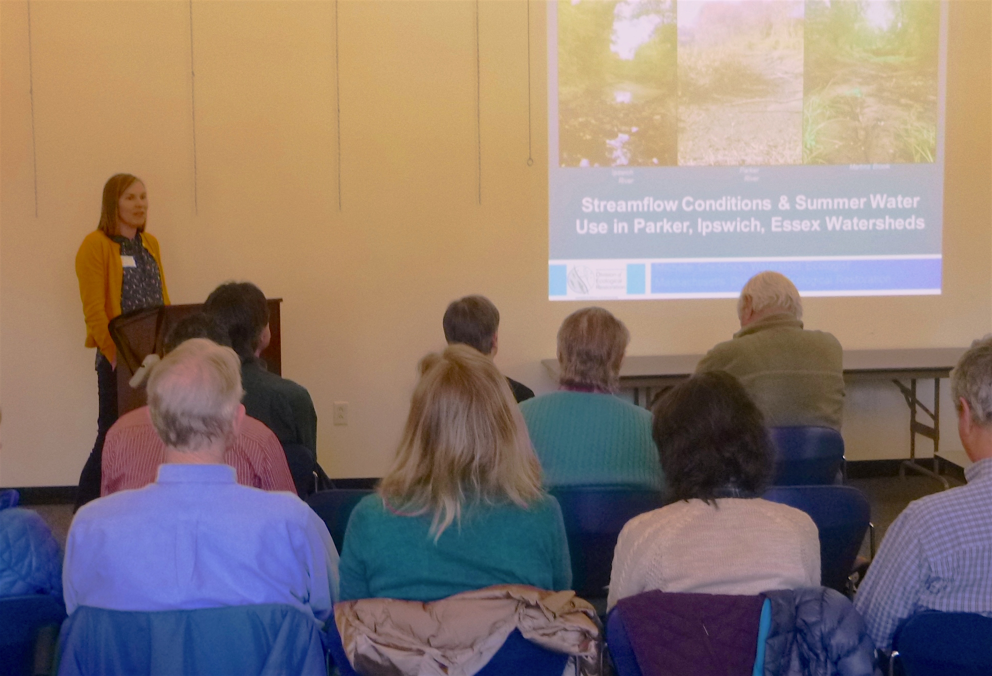 Michelle Craddock, Watershed Ecologist For The MA Division Of Ecological Restoration, Presents On Streamflow Data.